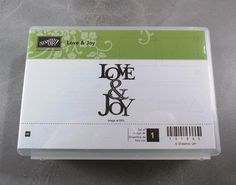 Stampin' Up Retired Love & Joy by CherylsStampStuff on Etsy