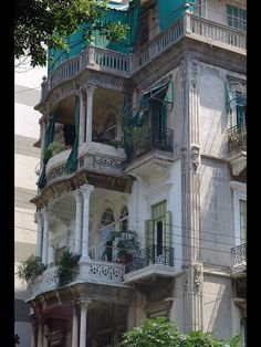 """Previous pinner: """"Elegant balconies in Beirut, Lebanon..."""".   ...   This reminds me of the gorgeous building the Misselbecks lived in on rue Jeanne d'Arc (at one point, I lived across the street)...."""