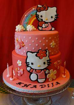 hello kitty bday cake