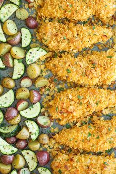 Baked Ranch Chicken Tenders and Veggies 7 Sheet Pan Chicken Dinners To Make This Week Healthy Dinner Recipes, New Recipes, Cooking Recipes, Recipies, Damn Delicious Recipes, Paleo Dinner, Baked Ranch Chicken, Chicken Tenders, Crispy Chicken