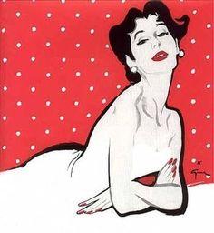La Dame de Beaute.René Gruau