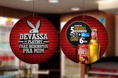 Criação do material de merchandising para a promoção de Páscoa da Devassa by Playboy em lojas de conveniência.