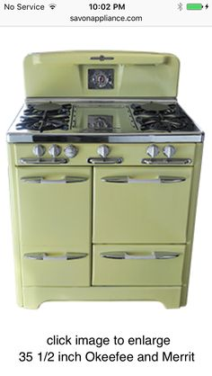 Excellent Vintage 1950s White Tappan Gas Stove - Works Great!!! | kitchen  TQ39