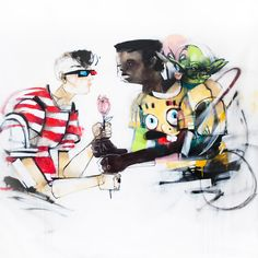 Anthony Lister Mixed Media Paintings