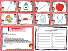 Are you looking for a LOW PREP literacy activity for pre-k, kindergarten, or first grade? Then download this product and go!  Enjoy this phonics resource which is comprised of a color version of a DENTAL HEALTH themed BEGINNING SOUND activity.  Children will determine the beginning sound of pictures while hunting for the ten cards around the room.  ALL YOU NEED TO DO IS PRINT AND PLACE THE CARDS AROUND THE ROOM AND PROVIDE A PENCIL, CLIP BOARD, AND RECORDING PAGE.