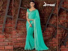 Wear this Sea Green Chiffon Saree and Satin Silk Multicolor Blouse along with Satin Silk Lace Border from Laxmipati at an #Upcoming Special #Occasion and Let Every Eyes Follow You. #Catalogue #SIFAANI #Design Number: 4387 #COD also Available Price - Rs. 2133.00 Visit for more designs@ www.laxmipati.com #Bridal #ReadyToWear #Wedding #Apparel #Art #Autumn #Black #Border #CasualSarees #Clothing ‪#ColoursOfIndia ‪#Couture #Designer #Designersarees #Dress #Dubaifashion #Ecommerce #EpicLove… Laxmipati Sarees, Saree Shopping, Chiffon Saree, Dubai Fashion, Lace Border, Printed Sarees, Silk Satin, Daily Wear, Bridal Collection