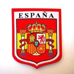 Spanish Flag Shield Spain Coat of Arms España Sew On Cloth Patch