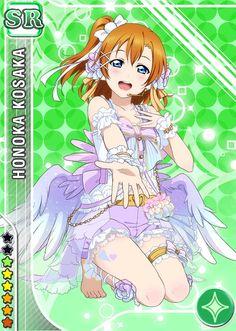 angel blue_eyes character_name dress happy kousaka_honoka love_live!_school_idol_festival love_live!_school_idol_project orange_hair short_hair side-ponytail