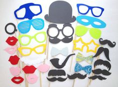 32Piece Photo Booth Props Set F  Photobooth by CleverMarten