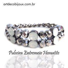 ✨Destaque do dia: Pulseira Entremeio Hematite  para varejo: artdecobijoux.com.br e para atacado nos escreva artdecobijoux@gmail.com #pulseira #pulseiragrafite #acessoriosfemininos