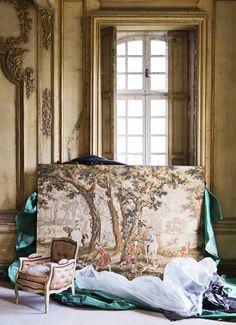 Chateau de Gudanes photoshoot Vogue