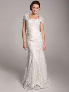 Lanting Bride® Trompeta / Sirena Tallas pequeñas / Tallas Grandes Vestido de Boda - Clásico y Atemporal / Elegante y Lujoso Transparente - MXN $2,066.79