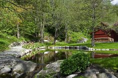 The farm is a popular area to go for a walk in the summer season. Norway, To Go, Europe, Seasons, Popular, House Styles, Summer, Summer Time, Seasons Of The Year