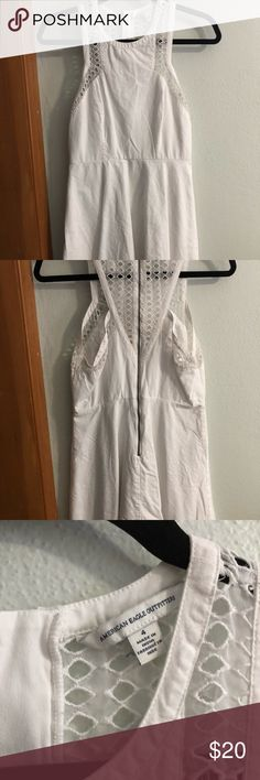 ▪️AE White Dress▪️ Versatile white dress Detail on top Super comfortable  Gently worn 2x Size 4  Thanks for your interest! Please check out my other listings! American Eagle Outfitters Dresses Mini