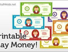 FREE Printable Play Money and Printable Play Checks