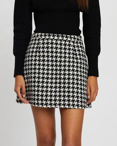 Buy Reign Wool Blend Mini Skirt by Dazie online at THE ICONIC. Free and fast delivery to Australia and New Zealand. Plaid Skirts, Mini Skirts, Tartan Plaid, Houndstooth, Reign, Latest Fashion Trends, Wool Blend, Night Out, Street Style