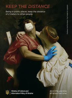"""During the current coronavirus pandemic, many people still ignore the basic rules of quarantine and personal security.We can say that the ability to preserve the quarantine – is a kind of art. This is how we came up with idea of """"Art of Quarantine"""" camp… Classical Art Memes, Art History Memes, Art Jokes, Arte Pop, Renaissance Art, Funny Art, Aesthetic Art, Oeuvre D'art, Collage Art"""