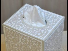 """Let me show you how to make this super easy Tissue Box Cover (fits box 4 3/8"""" x 3 7/8"""" and 4 3/4"""" tall - US size: see below***) that was inspired by the stun..."""