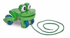 Frolicking Frog Pull Toy for Toddlers