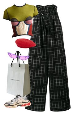 """""""same ol mistakes"""" by chanelandcoke ❤ liked on Polyvore featuring Rejina Pyo, Jean-Paul Gaultier and Marc Jacobs"""