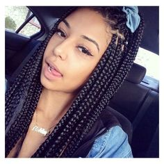 65 Box Braids Hairstyles for Black Women ❤ liked on Polyvore featuring hair