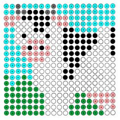 Kralenplank: koe Cute Crafts, Crafts For Kids, Diy Crafts, Perler Patterns, Create And Craft, Perler Beads, Farm Animals, Beading Patterns, Pixel Art