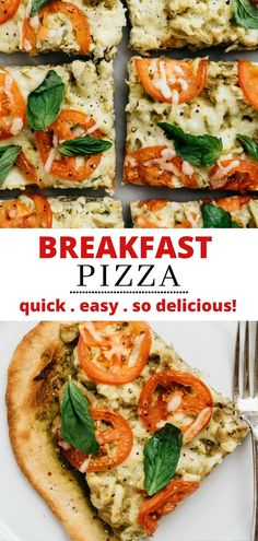 Pizza for breakfast? This Breakfast Pizza is so easy and tasty you're going to want it every morning! This delicious breakfast recipe is always a hit. Breakfast Pizza, Savory Breakfast, Sweet Breakfast, Homemade Breakfast, Egg Recipes, Pizza Recipes, Whole Food Recipes, Vegetarian Recipes, Delicious Breakfast Recipes
