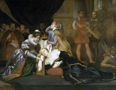 The Execution of Mary, Queen of Scots by Abel de Pujol (1800s)