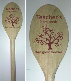 TEACHERS PLANT SEEDS WOODEN SPOON TEACHER COOK CHEF END OF TERM PRESENT GIFT   eBay