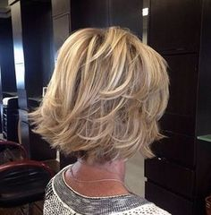 Blonde Bob with Flared Layered Ends