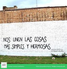 Nos unen las cosas más simples y hermosas #lavidaesarte