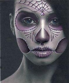 Day of the dead girl by Spanglerart.deviantart.com on @deviantART