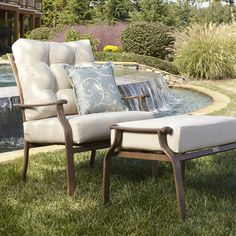 Panama Jack Island Breeze Deep Seating Lounge Chair with Cushion Fabric: Linen Champagne