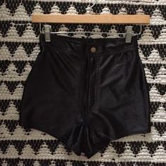 American Apparel Pants - Black high waisted shorts    size Small   