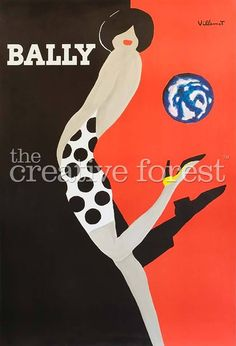 Bally Vintage Art Deco Fashion Advertising by CreativeForestStudio