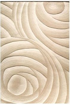 You'll appreciate the unique texture and pattern of the Optics Area Rug. Curved lines join together to form spiral-like shapes for an innovative, modern look. With a durable construction, this contemporary rug has lasting beauty. Diy Carpet, Modern Carpet, Rugs On Carpet, Carpets, Carpet Ideas, Textured Carpet, Patterned Carpet, Beige Carpet, Wool Carpet