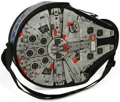 Millennium Falcon LEGO bag -looks like mama found a brand new messenger bag.