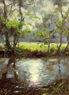 Sparkling Water, painting by artist Nigel Fletcher