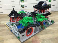 Sino Garden by obscurance Lego Ninjago City, Lego City, Lego Minecraft, Lego Moc, Minecraft Ideas, Asian Architecture, Lego Architecture, Lego Movie Sets, Amazing Lego Creations