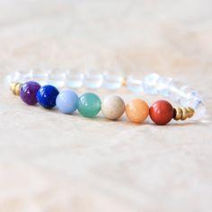 7 Chakra Bracelet Chakra Mala Beads Yoga Jewelry par MishkaSamuel