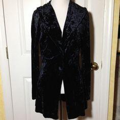 Nave Blue 3/4 Jacket Eclectic fits Sz L Nave Blue 3/4 Jacket Eclectic fits Sz L unknown Jackets & Coats Blazers