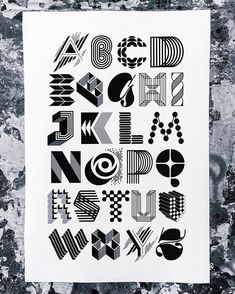 90 Beautiful Typography Alphabet Designs (Part Calligraphy Letters, Typography Letters, Typography Poster, Calligraphy Doodles, Alphabet Design, Types Of Lettering, Lettering Design, Hand Lettering, Graphisches Design