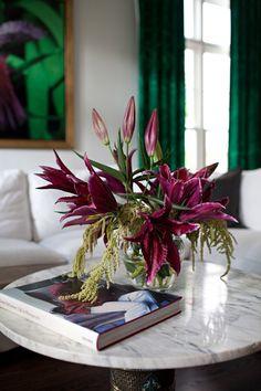 Lillies & Malachite. Living space