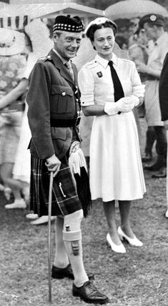 "Wallis Simpson and Edward VIII In August 1934, the prince took a cruise, and though both the Simpsons were invited, Ernest could not accompany his wife because of business commitments. It was on this cruise, Wallis later stated, that she and Edward ""crossed the line that marks the indefinable boundary between friendship and love"". Edward became a regular visitor to Wallis' residence and she became the only woman in his life"