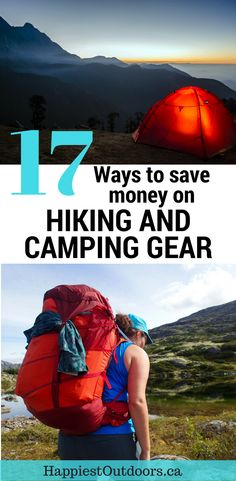 Ways to Save Money on Hiking Gear 17 Ways to Save Money on Hiking and Camping Gear. Get hiking gear on a budget. How to find cheap hiking Ways to Save Money on Hiking and Camping Gear. Get hiking gear on a budget. How to find cheap hiking gear. Cheap Camping Gear, Camping Bedarf, Bushcraft Camping, Family Camping, Outdoor Camping, Outdoor Travel, Outdoor Gear, Camping Ideas, Camping Hacks