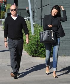 Bruce Willis Emma Heming-Willis Photos - Bruce Willis And Emma Heming Out For Lunch - Zimbio