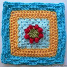 Basket of Berries by Melinda Miller Block 4 of the Block a Week CAL 2014  #lookatwhatimade #afghan #crochet
