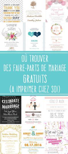 Discover 3 sites that offer very nice free wedding invitations Tableau de mariage Plan Your Wedding, Wedding Tips, Diy Wedding, Post Wedding, Cricut Wedding, Handmade Wedding, Trendy Wedding, Elegant Wedding, Wedding Ceremony