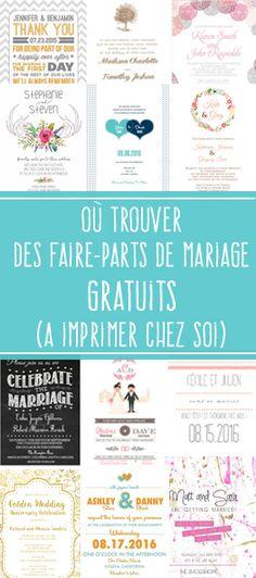 Découvrez 3 sites qui proposent de très jolis faire-parts de mariage gratuits à télécharger et à imprimer soi-même : http://mon-mariage-pour-moins-cher.com/post/ou-trouver-des-faire-parts-de-mariage-gratuits/ via @mariagepascher