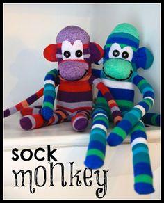 DIY Sock Monkey  I wanna make one of these for Kaden! (: